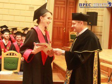 Урочистості з нагоди вручення дипломів випускникам біологічного факультету