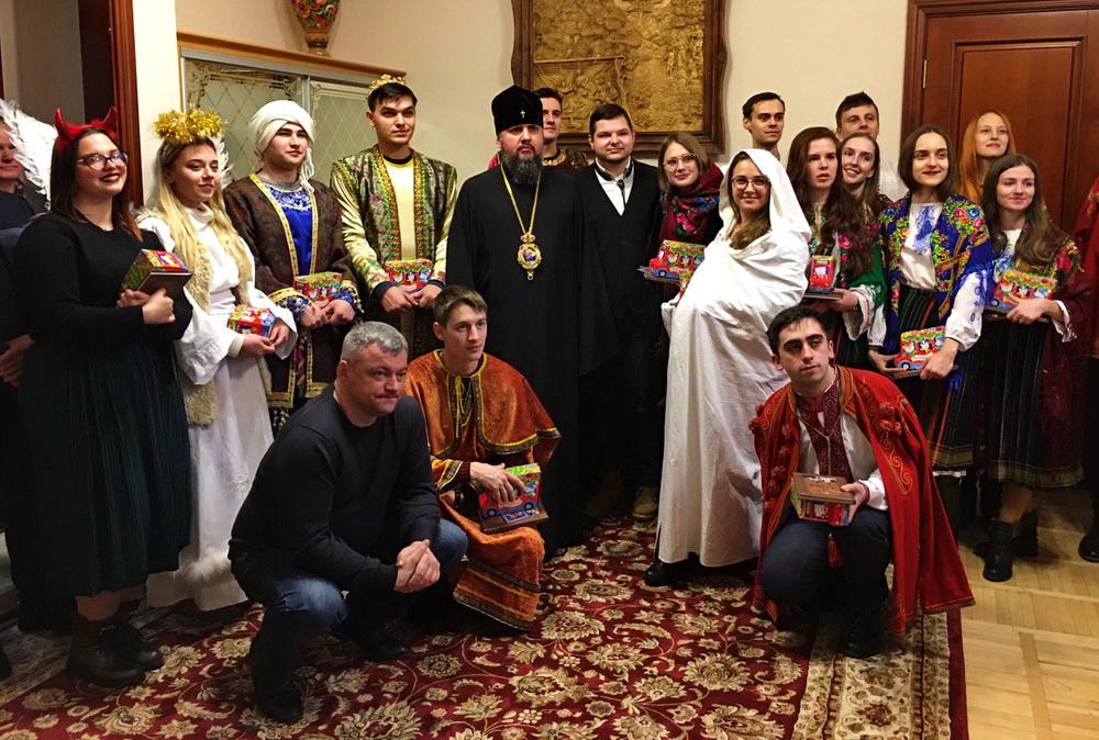 Студенти та працівники Університету відвідали духовних лідерів України із вертепом та колядою