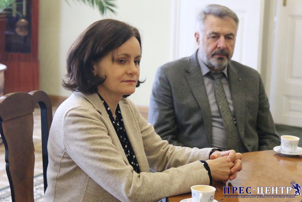 Ректор Володимир Мельник зустрівся з Генеральним консулом Польщі у Львові Елізою Дзвонкєвіч