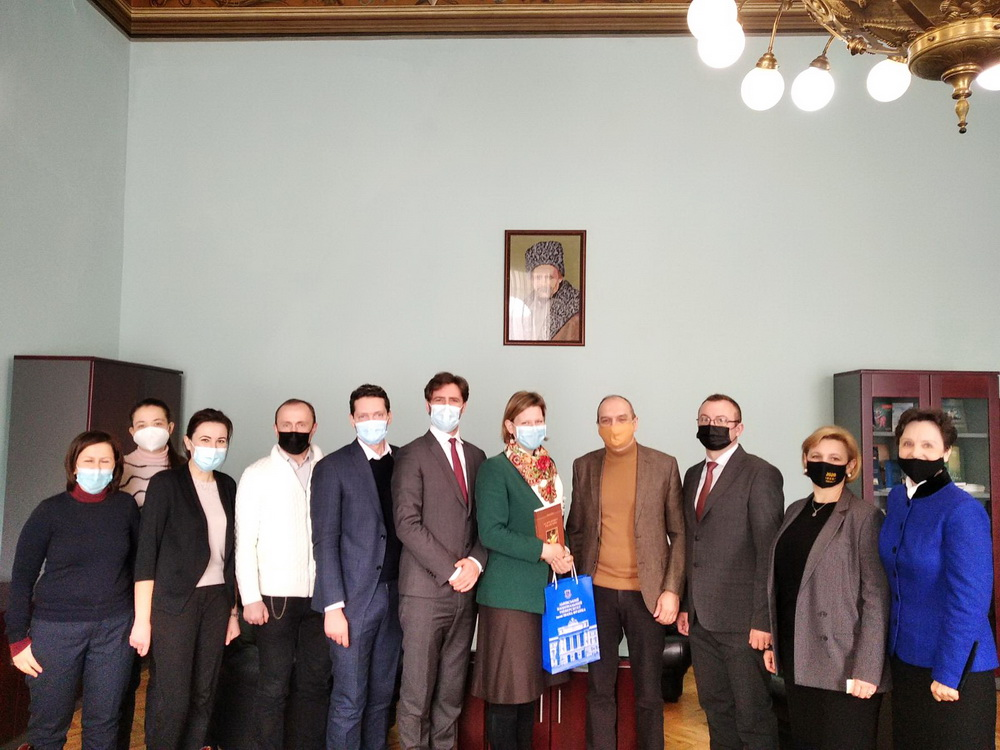 The Delegation from the Embassy of France in Ukraine paid their visit to the University