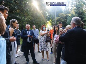 Відбулася зустріч студентів Університету з керівництвом Львівського національного університету імені Івана Франка та Львівського національного аграрного університету