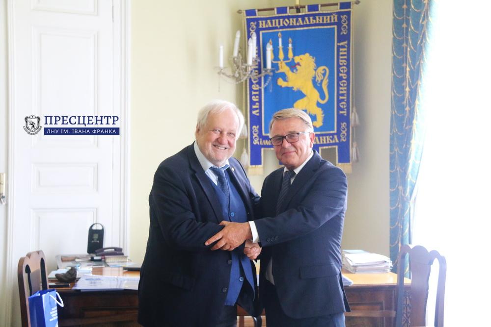 Ректор Володимир Мельник зустрівся із Президентом Польської академії наук Єжи Душинським